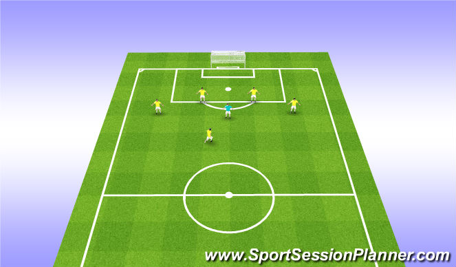 Football/Soccer Session Plan Drill (Colour): Receiving N - Back to Goal