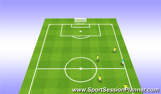 Football/Soccer Session Plan Drill (Colour): Receiving W/E - Open Body