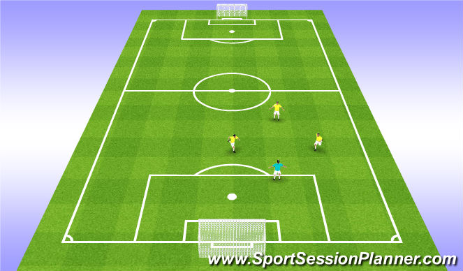 Football/Soccer Session Plan Drill (Colour): Receving S - Facing Goal