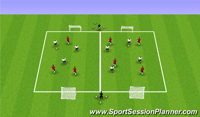 Football/Soccer Session Plan Drill (Colour): Week 9 ODP 1st Session