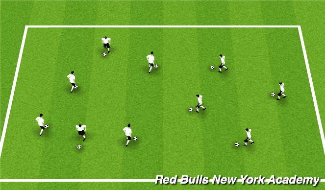 Football/Soccer Session Plan Drill (Colour): FOOTSKILLS WARMUP