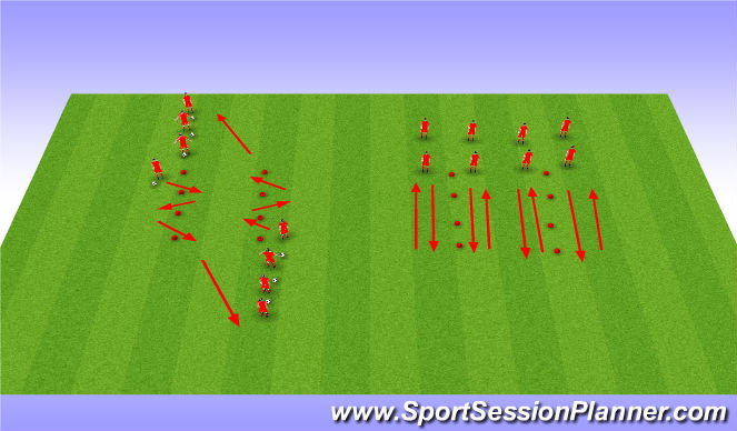 Football/Soccer Session Plan Drill (Colour): Dribbling, turns