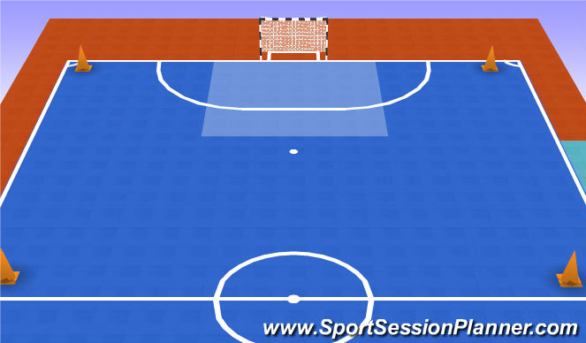 Futsal Session Plan Drill (Colour): Guerra sin balon