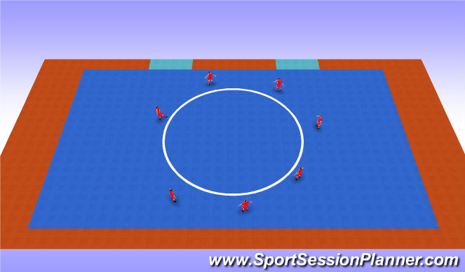 Futsal Session Plan Drill (Colour): Circulo de pases