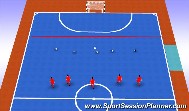 Futsal Session Plan Drill (Colour): Reaccion + fin