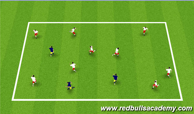 Football/Soccer Session Plan Drill (Colour): Shrek and Donkey