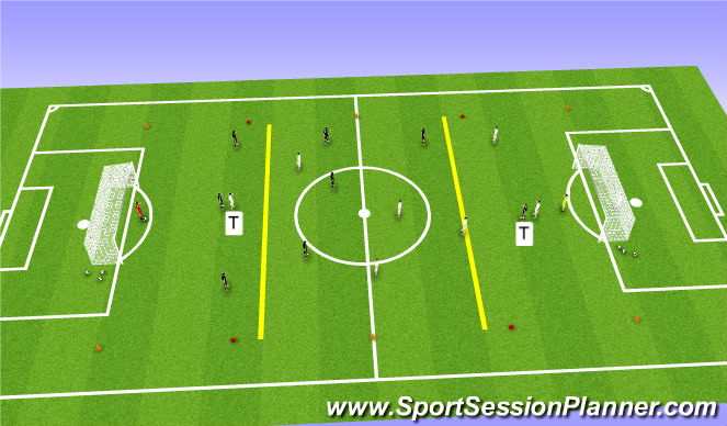 Football/Soccer Session Plan Drill (Colour): 8 v 8 Conditioned Game