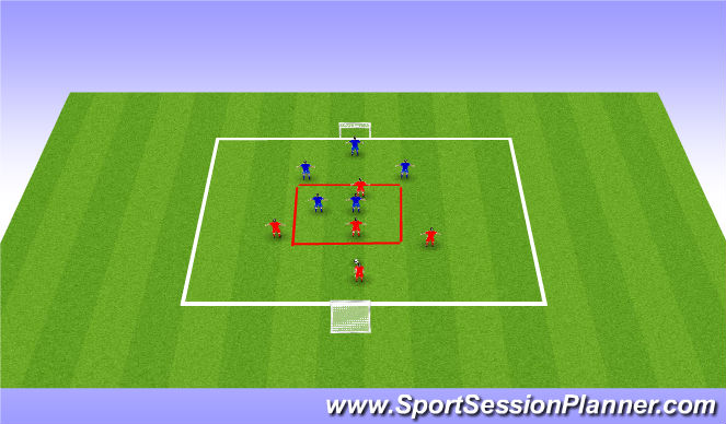 Football/Soccer Session Plan Drill (Colour): 5v5 Tournament