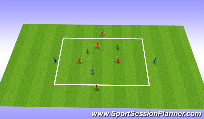 Football/Soccer Session Plan Drill (Colour): 5v5 Play out Get Out