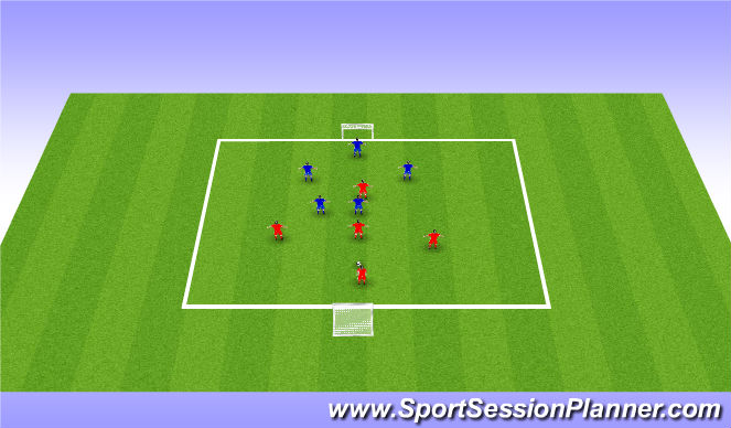 Football/Soccer Session Plan Drill (Colour): 5v5 Tournament