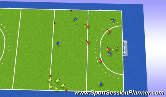 Hockey Session Plan Drill (Colour): Choose your Goal