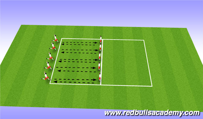 Football/Soccer Session Plan Drill (Colour): Warm Up - Shooting / Finishing