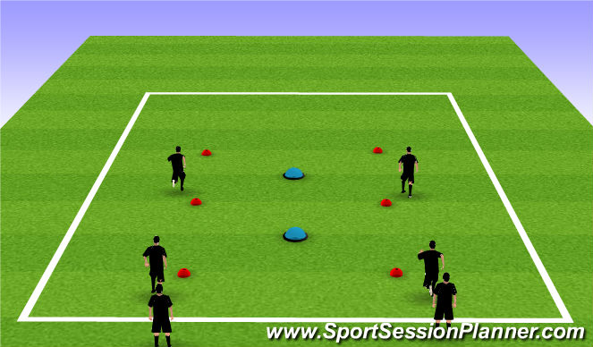 Football/Soccer Session Plan Drill (Colour): Activation/Warm Up/Stretching