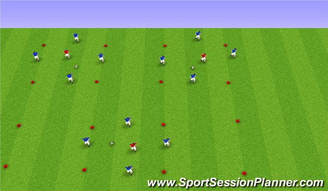 Football/Soccer Session Plan Drill (Colour): Possession - Technical
