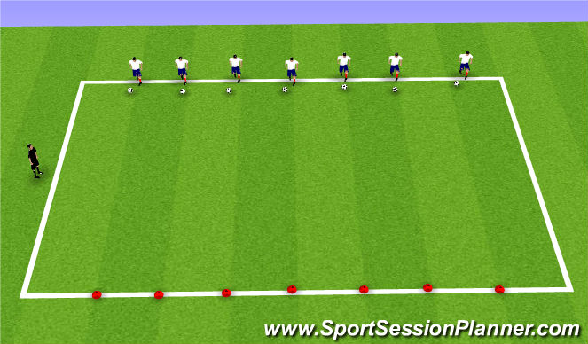Football/Soccer Session Plan Drill (Colour): Week 11 ODP 1st Session