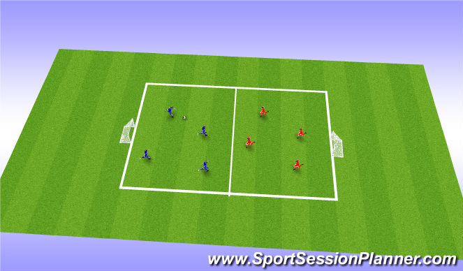 Football/Soccer Session Plan Drill (Colour): Global Final Phase