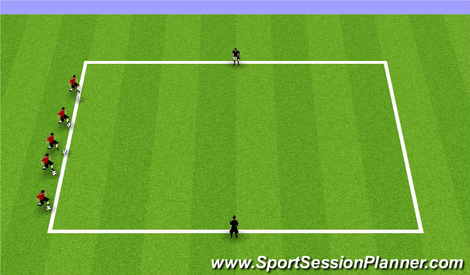 Football/Soccer Session Plan Drill (Colour): Week 10 ODP 1st Session