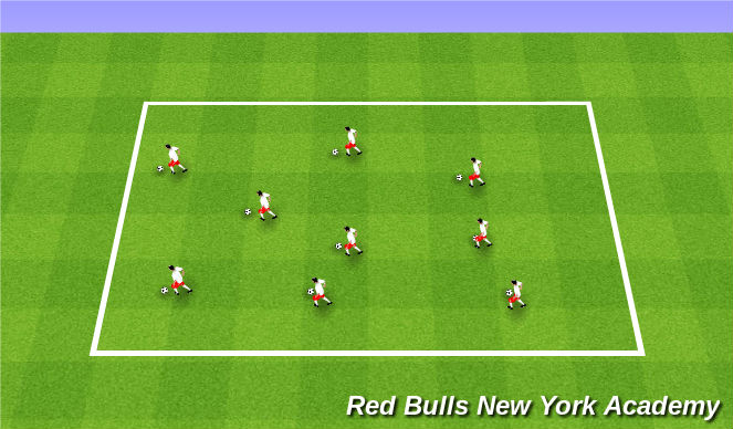 Football/Soccer Session Plan Drill (Colour): WARM-UP- FOOTSKILLS