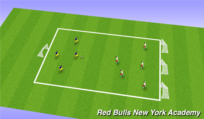 Football/Soccer Session Plan Drill (Colour): Conditionned Game