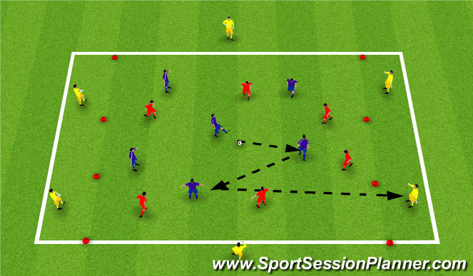Football/Soccer Session Plan Drill (Colour): Exercise 3: SSG 1