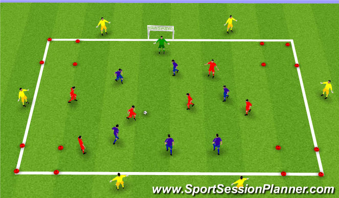 Football/Soccer Session Plan Drill (Colour): Exercise 4: SSG 2