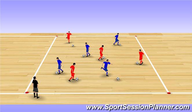 Futsal Session Plan Drill (Colour): Intro/Warm Up