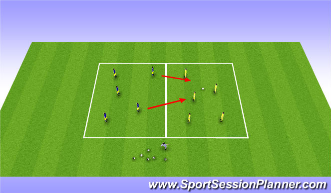 Football/Soccer Session Plan Drill (Colour): Clan wars