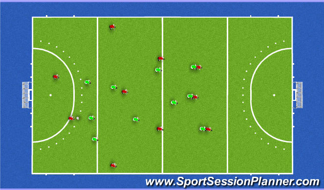 Hockey Session Plan Drill (Colour): press 235 vs 4d