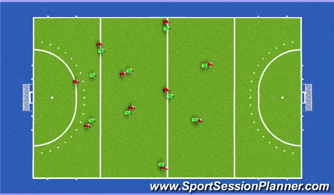 Hockey Session Plan Drill (Colour): press 235 v3d