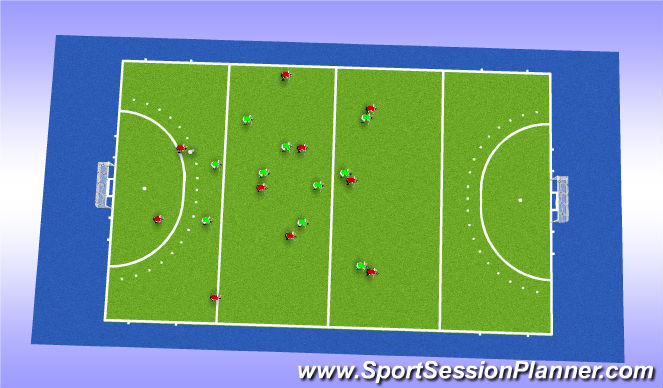 Hockey Session Plan Drill (Colour): 3232 vs 4d