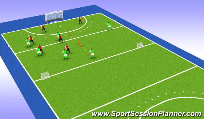 Hockey Session Plan Drill (Colour): game 1