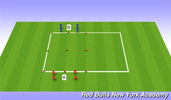 Football/Soccer Session Plan Drill (Colour): 1v1 Semi-Pressure