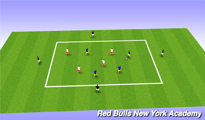 Football/Soccer Session Plan Drill (Colour): Possession to targets