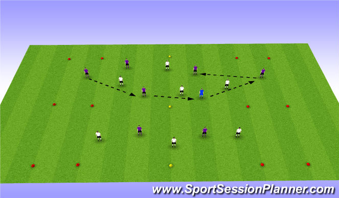 Football/Soccer Session Plan Drill (Colour): Transition Game - CPA