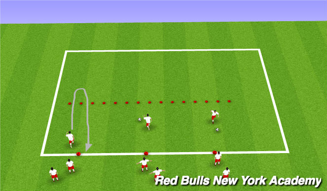 Football/Soccer Session Plan Drill (Colour): Technical turn