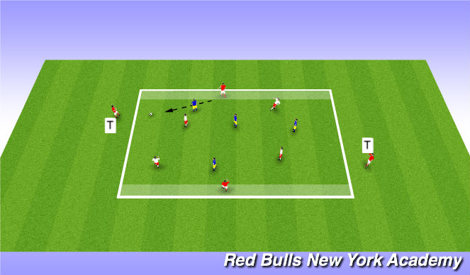 Football/Soccer Session Plan Drill (Colour): Possession 2 (option 1)