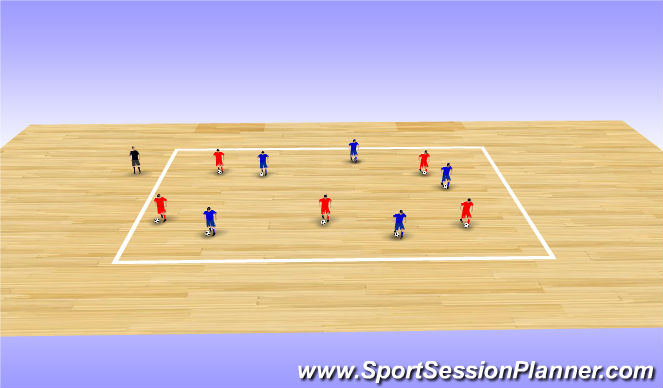 Futsal Session Plan Drill (Colour): King of the Ring