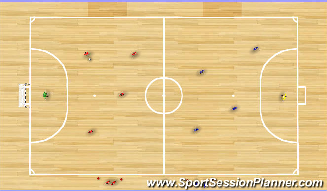 Futsal Session Plan Drill (Colour): Futsal 5v5 Introduce Rules