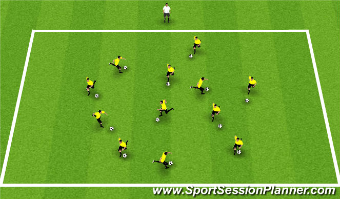 Football/Soccer Session Plan Drill (Colour): King/Queen of the Ring