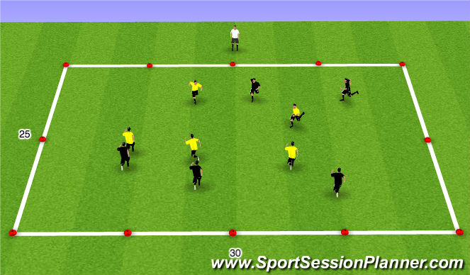 Football/Soccer Session Plan Drill (Colour): Catch the Tail