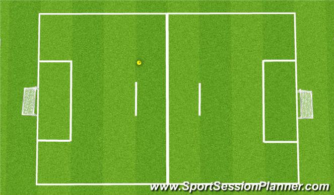 Football/Soccer Session Plan Drill (Colour): 4v4 6