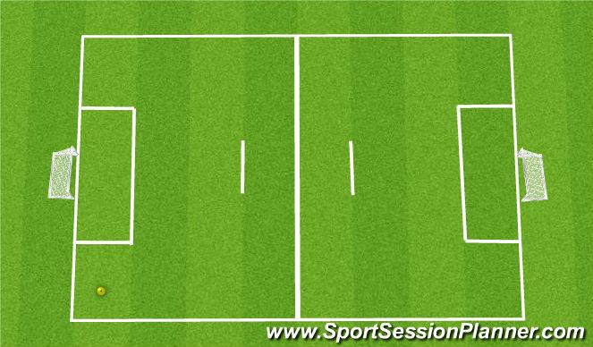 Football/Soccer Session Plan Drill (Colour): 4v4 5
