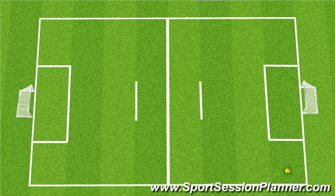 Football/Soccer Session Plan Drill (Colour): 4v4 4