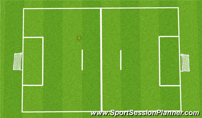 Football/Soccer Session Plan Drill (Colour): 4v4 6