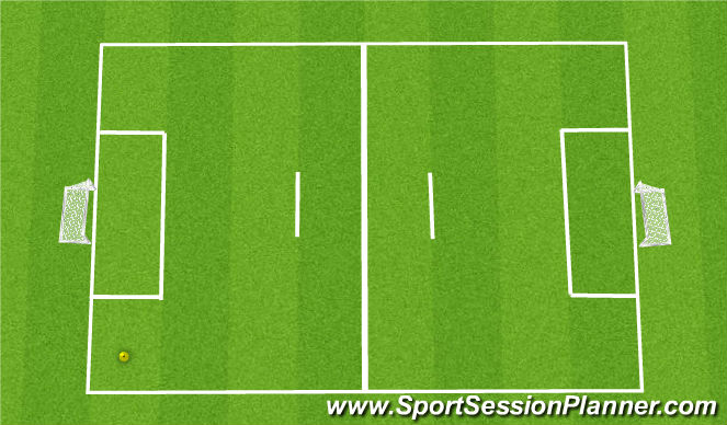 Football/Soccer Session Plan Drill (Colour): 4v4 5