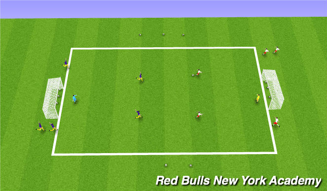 Football/Soccer Session Plan Drill (Colour): CONDITION GAME 1