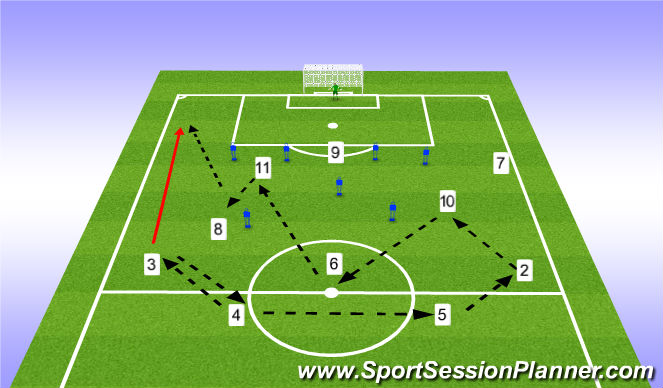 Football/Soccer Session Plan Drill (Colour): Thursday 3