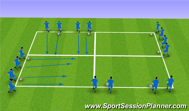 Football/Soccer Session Plan Drill (Colour): def. quickness 3