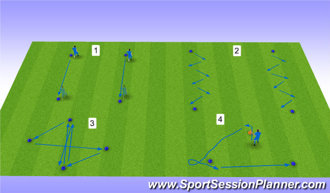 Football/Soccer Session Plan Drill (Colour): defensive agility 1