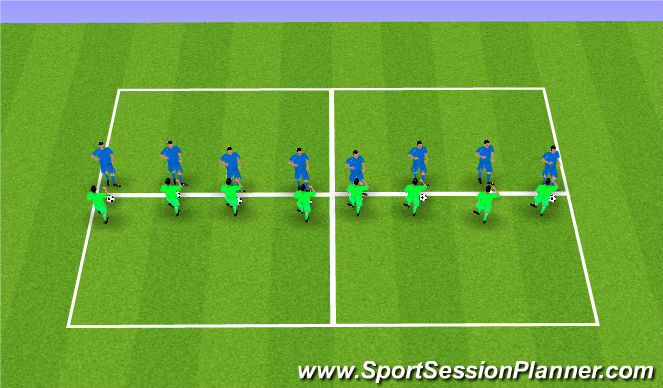 Football/Soccer Session Plan Drill (Colour): block tackle